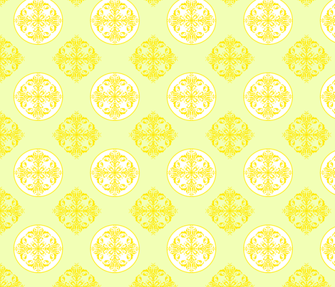 Lemon twist fabric by clarissagunndesign on Spoonflower - custom fabric