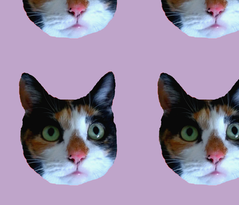 Calico Cat - Purple fabric by oftheivy on Spoonflower - custom fabric
