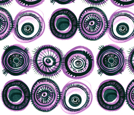 Fischaugen (Fish Eyes) in crushed grape fabric by atelierk on Spoonflower - custom fabric