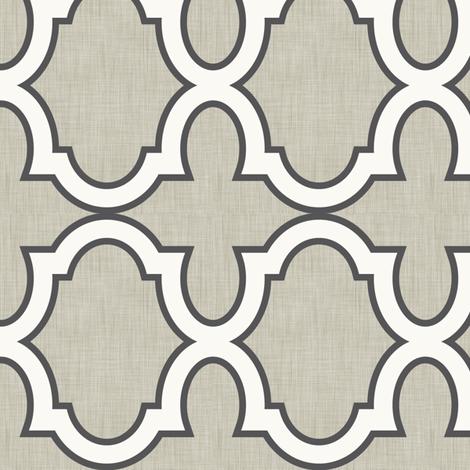 Claudette Linen Charcoal fabric by crisbucknall on Spoonflower - custom fabric