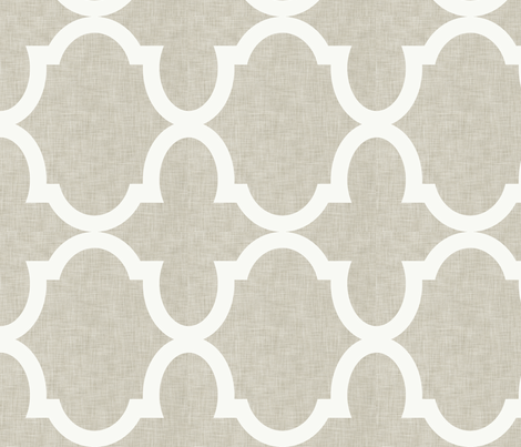 Chloe Linen White fabric by crisbucknall on Spoonflower - custom fabric