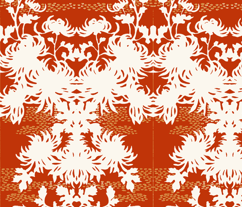 Royal Chrysanthemum fabric by flyingfish on Spoonflower - custom fabric