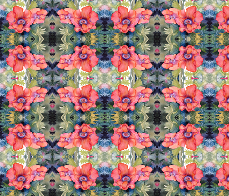 Poppy Time fabric by engelstudios on Spoonflower - custom fabric