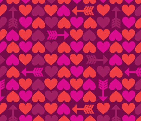Hearts of Plenty fabric by edward_elementary on Spoonflower - custom fabric