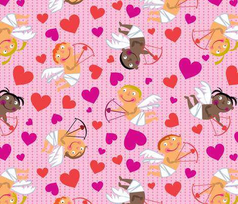 Cute Cupids fabric by edmillerdesign on Spoonflower - custom fabric