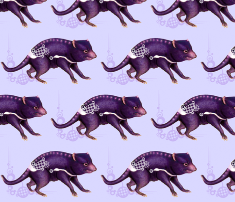 Twilight_Purinina (the Tasmanian devil) fabric by rubyhraefen on Spoonflower - custom fabric