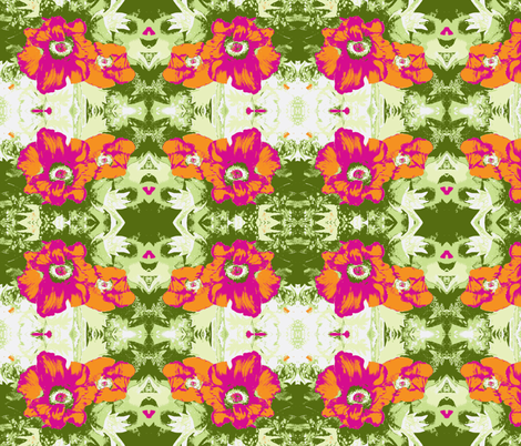 Poppy Time in brights fabric by engelstudios on Spoonflower - custom fabric