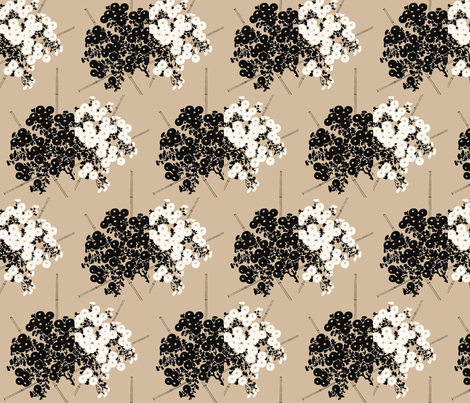 Bamboo and Chrysanthemum fabric by flyingfish on Spoonflower - custom fabric