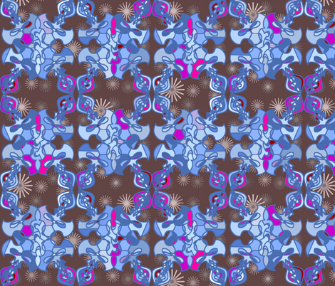 Damask Flourish - Blue fabric by telden on Spoonflower - custom fabric