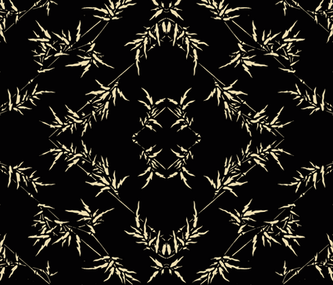 Midnight Bamboo Diamond fabric by flyingfish on Spoonflower - custom fabric