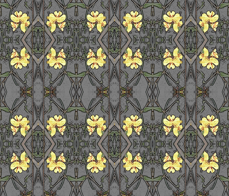 Native Pea Flower fabric by engelstudios on Spoonflower - custom fabric