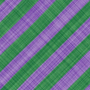 Diagonal Linen Stripe - Lavender Green