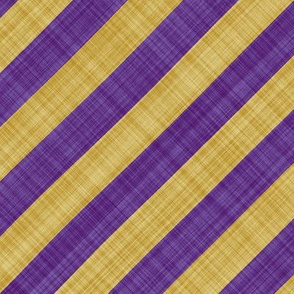 Diagonal Linen Stripe - Purple Yellow