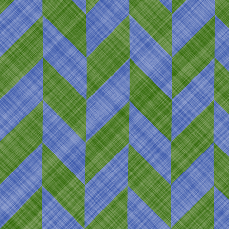 Chevron Linen - Zigzag Alternate - Green Blue fabric by bonnie_phantasm on Spoonflower - custom fabric