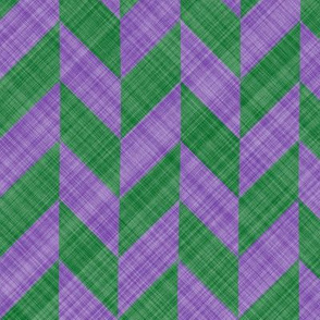 Chevron Linen - Zigzag Alternate - Lavender Green