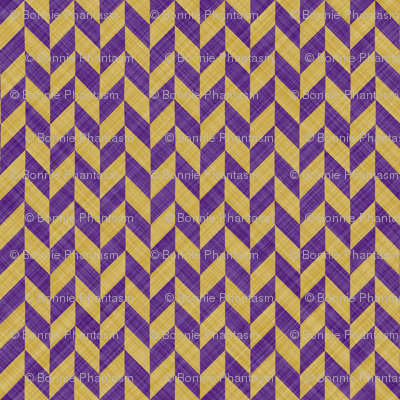 Chevron Linen - Zigzag Alternate - Purple Yellow