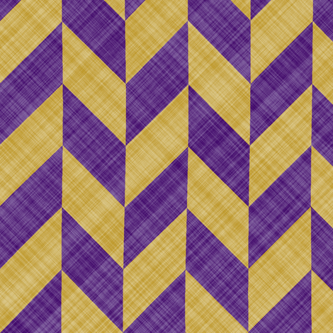 Chevron Linen - Zigzag Alternate - Purple Yellow fabric by bonnie_phantasm on Spoonflower - custom fabric