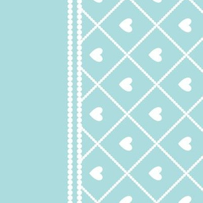 Never Far Away - Border Fabric (color: sugar ice)