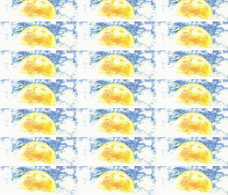 Sun and Clouds fabric by artist55 on Spoonflower - custom fabric