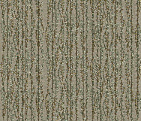 klimt vines earthen fabric by glimmericks on Spoonflower - custom fabric
