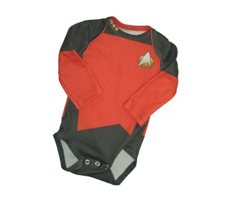 Tiny captain baby onesie