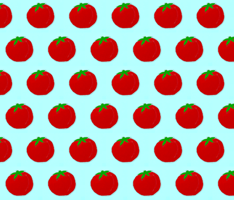 Tomato tomato fabric by dejachic on Spoonflower - custom fabric