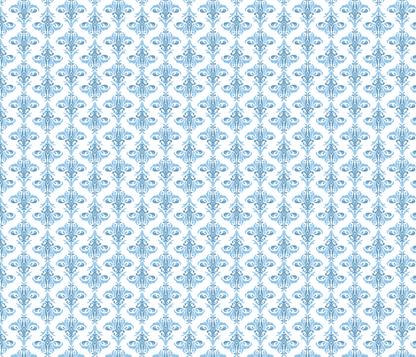 love of blue fabric by clarissagunndesign on Spoonflower - custom fabric