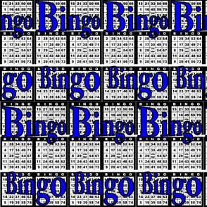 Bingo Black paper with Bingo text