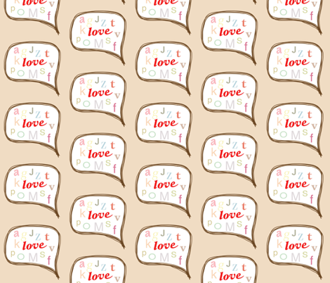 love letters fabric by sofs on Spoonflower - custom fabric