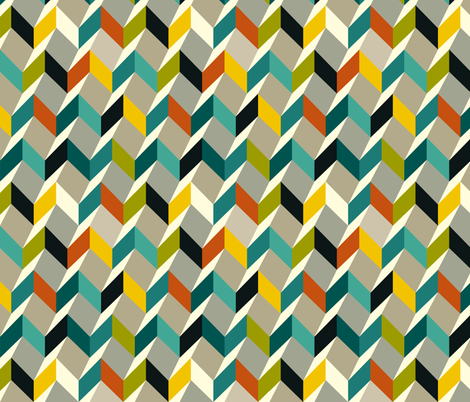 zigzag fabric by kaeselotti on Spoonflower - custom fabric