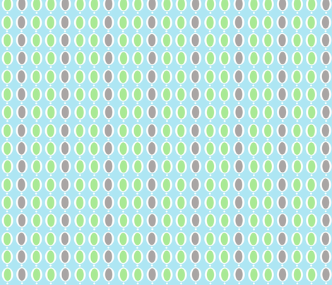 gray and green ring dots stripe fabric by birds_have_flowers on Spoonflower - custom fabric