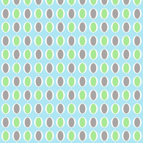 gray, green and blue oval ring wallpaper