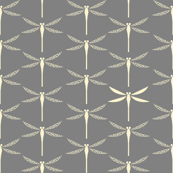 Koi Dragonflies - Grey