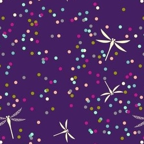 Dragonfly Dots - Eggplant