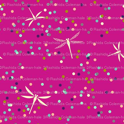Dragonfly Dots - Magenta