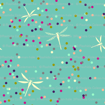 Dragonfly Dots - Turquoise
