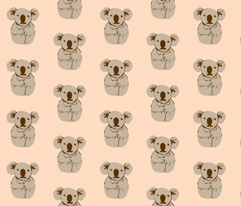koala fabric by anieke on Spoonflower - custom fabric