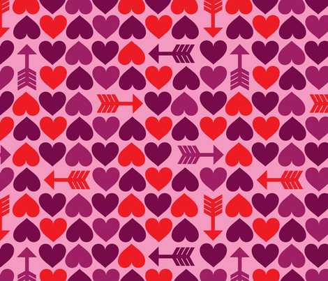 Hearts & Arrows fabric by edward_elementary on Spoonflower - custom fabric
