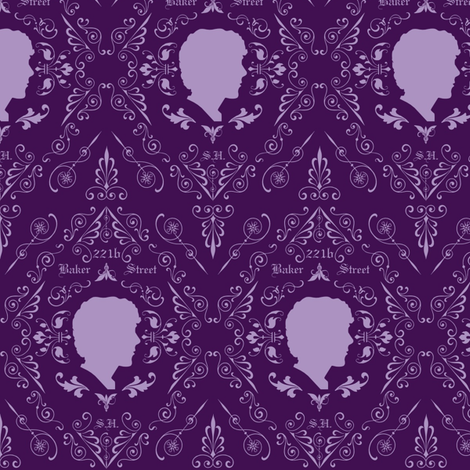 Sherlock Damask fabric by clonistudios on Spoonflower - custom fabric