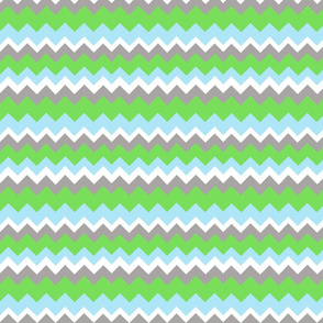chevron in gray green and blue