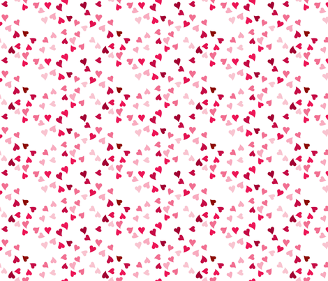 Tonal Pink Ditzy Hearts fabric by hopeandlouise on Spoonflower - custom fabric