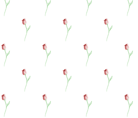 Rose Watercolour fabric by pretty_chalk on Spoonflower - custom fabric