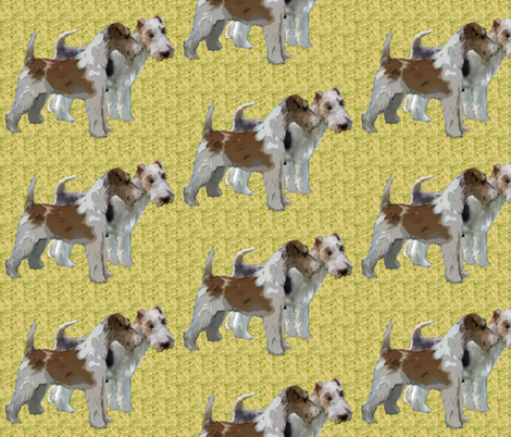Wire Haired Fox Terriers fabric by dogdaze_ on Spoonflower - custom fabric