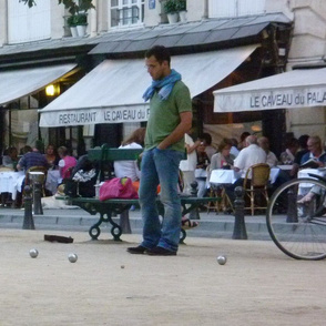 Playing Boules, Paris