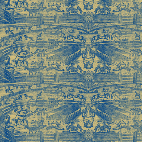 Horse Show Ring Toile fabric by ragan on Spoonflower - custom fabric