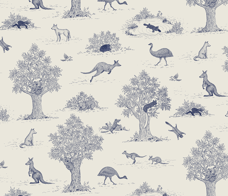 Australian Animals fabric by fattcheese on Spoonflower - custom fabric