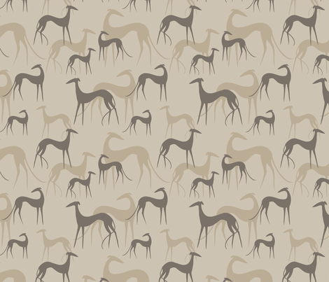 sighthounds coffee fabric by lobitos on Spoonflower - custom fabric
