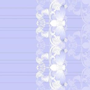 Lavender Cicada Pinstripe Border