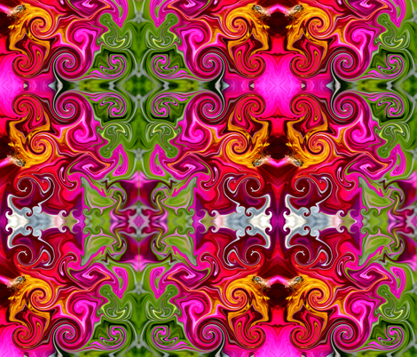 Groovy bee pink fabric by janalinde on Spoonflower - custom fabric