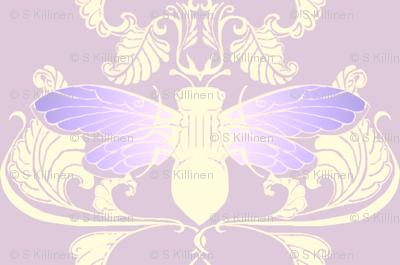 Lavender Cicada Damask